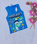Хлопчачі боксерки модні Minecraft літні майки 5-8 років, фото 5