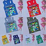 Хлопчачі боксерки модні Minecraft літні майки 5-8 років, фото 3