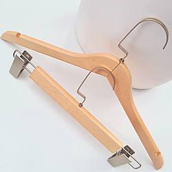 Вешалка тремпель деревянная для одежды в гардероб, шкаф для платьев, свитеров, 44 см