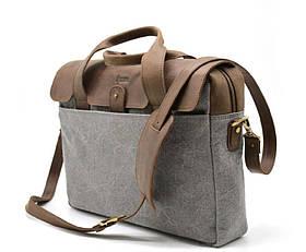 Повседневная сумка в комбинации кожи и ткани RGj-1812-4lx от TARWA