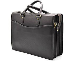 Деловая кожанная мужская сумка TC-4364-4lx TARWA