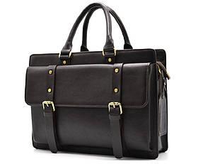 Кожанная сумка портфель TARWA, TC-4964-4lx темно-коричневая