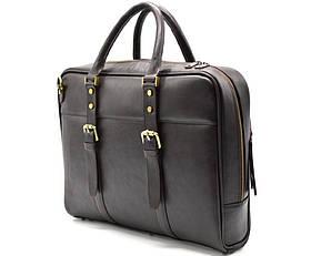 Деловая сумка с ручками TARWA, TC-4764-4lx темно-коричневая