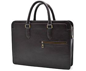 Кожаный деловой портфель TC-4864-4lx TARWA коричневый