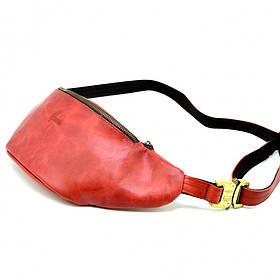 Красная поясная сумка из лошадиной кожи Crazy horse бренда TARWA RR-3036-4lx