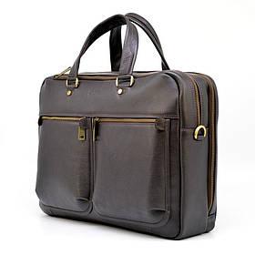 Мужская кожаная сумка для ноутбука и документов TARWA TC-4664-4lx