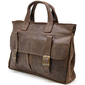 Мужская сумка портфель для ноутбука из кожи crazy horse RC-7107-1md TARWA