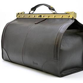 Саквояж из телячьей кожи темно-коричневый бренд TARWA TС-1221-4lx