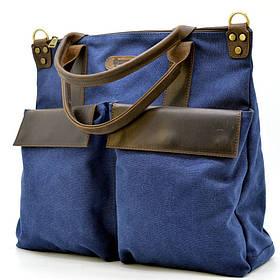 Экслюзивная сумка унисекс, через плечо (канвас и кожа) TARWA RK-1355-4lx