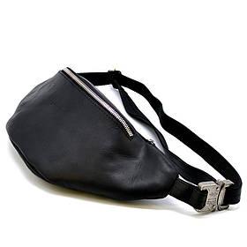 Напоясная сумка из черной кожи Crazy horse бренда RA-3036-4lx TARWA