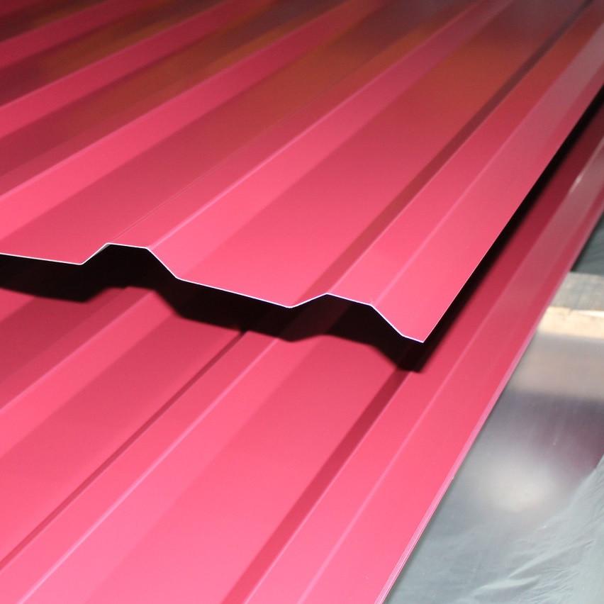 Профнастил (профлист) 10-ти волновой 1700х950 мм темная вишня