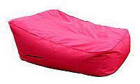 Бескаркасный Матрас-Лежак для детей и взрослых с чехлом из ткани Оксфорд, полистирол 150х130х70/30 см, красный