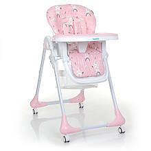Стільчик для годування на коліщатках M 3233 Rabbit Girl Pink рожевий
