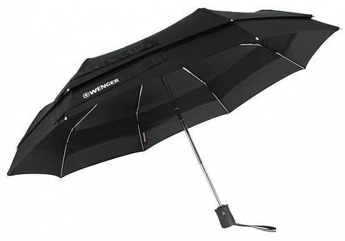 Современный стильный зонт, полный автомат Wenger W1100-black (черный)
