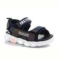 Спортивні світяться босоніжки, сандалі. Розміри 26, 28, 29, 30, 31.