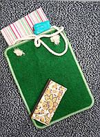 Сумка-пакет войлочная зеленая, фото 1