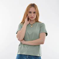 Женская футболка оверсайз оптом OF 204 фисташка
