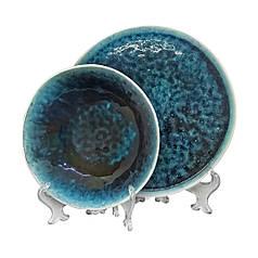 Набір посуду синього кольору в цятки посуд для кафе ресторанів і вдома