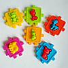Логічний куб, розвиваючий сортер з фігурками тварин,куб сортер KW-50-102