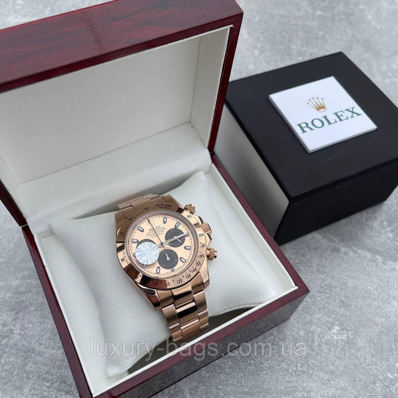 Часы наручные Rolex Daytona Metal Gold-Black-Rose