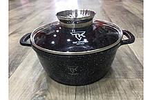 Кастрюля Top Kitchen (черная в белуя точку) TК00051