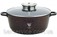 Каструля Top Kitchen (чорна в червону крапку 28 см) ТК00053 4