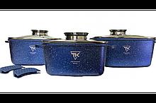 Набор кастрюль Top Kitchen (Синий) (3 кастрюли) TК00025 4