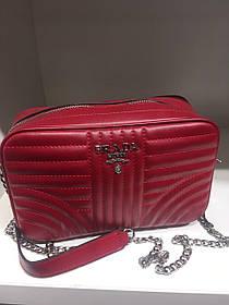 Женская сумка Pradа красная 7768
