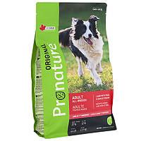 Pronature Original Adult Lamb Пронатюр оріджінал ягня корм для собак