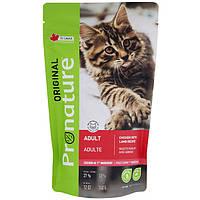 Pronature Original Adult Lamb Chiсken Пронатюр оріджінал ягня КУРКА корм для котів