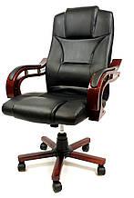 Рабочее кресло руководителя офисное из екокожи Prezydent Президент Черный