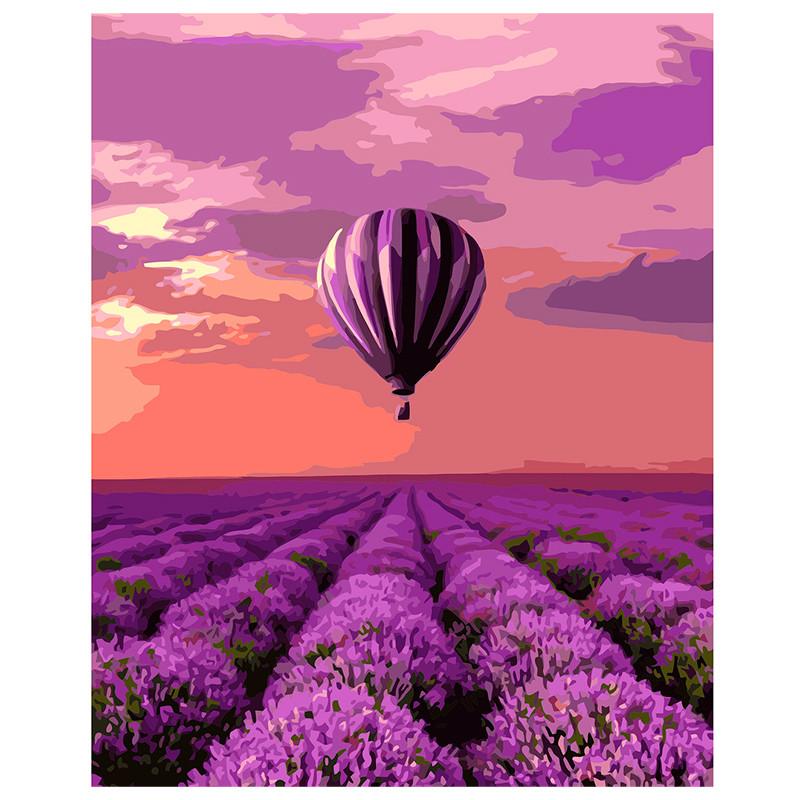Картина за номерами «Повітряна куля над лавандовим полем» VA- 1481, 40 - 50 см