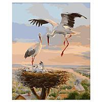 Картина за номерами «Лелеки в гнізді» VA-1610, 40 - 50 см