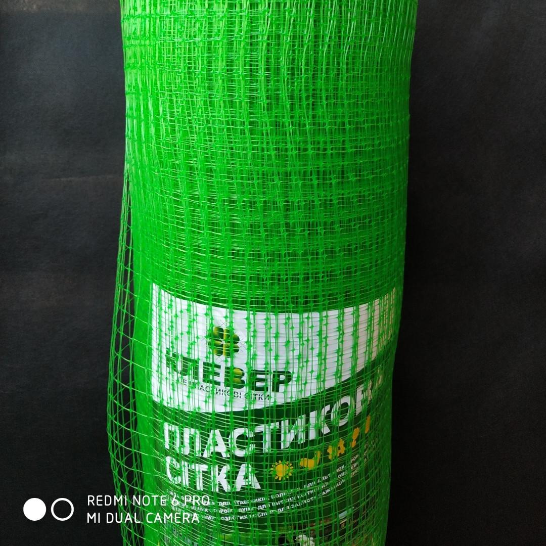 Сетка вольерная для птиц зеленая, ячейка 22мм x 35мм, рулон 1м x 50м