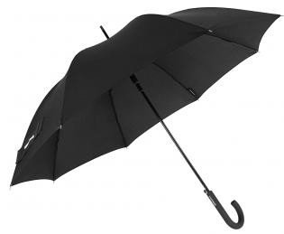 Солидный зонт-трость, полуавтомат Wenger W1107-black (черный)