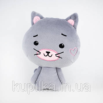 Мягкая игрушка Zolushka котёнок Пинки 21см серый (Z663)