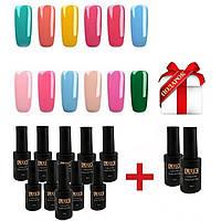 Гель лак Lilly Beauty Lux 8мл 12ш(Гель-лак для покрытия ногтей, маникюр, база, топ Kodi, Шеллак, Oxxi, педикюр