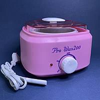 Воскоплав Pro Wax 200 рожевий баночний для депіляції