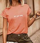 Футболка жіноча «Not your baby» (Батал), фото 6