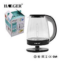Електрочайник Haeger-7840 скло 2200Вт