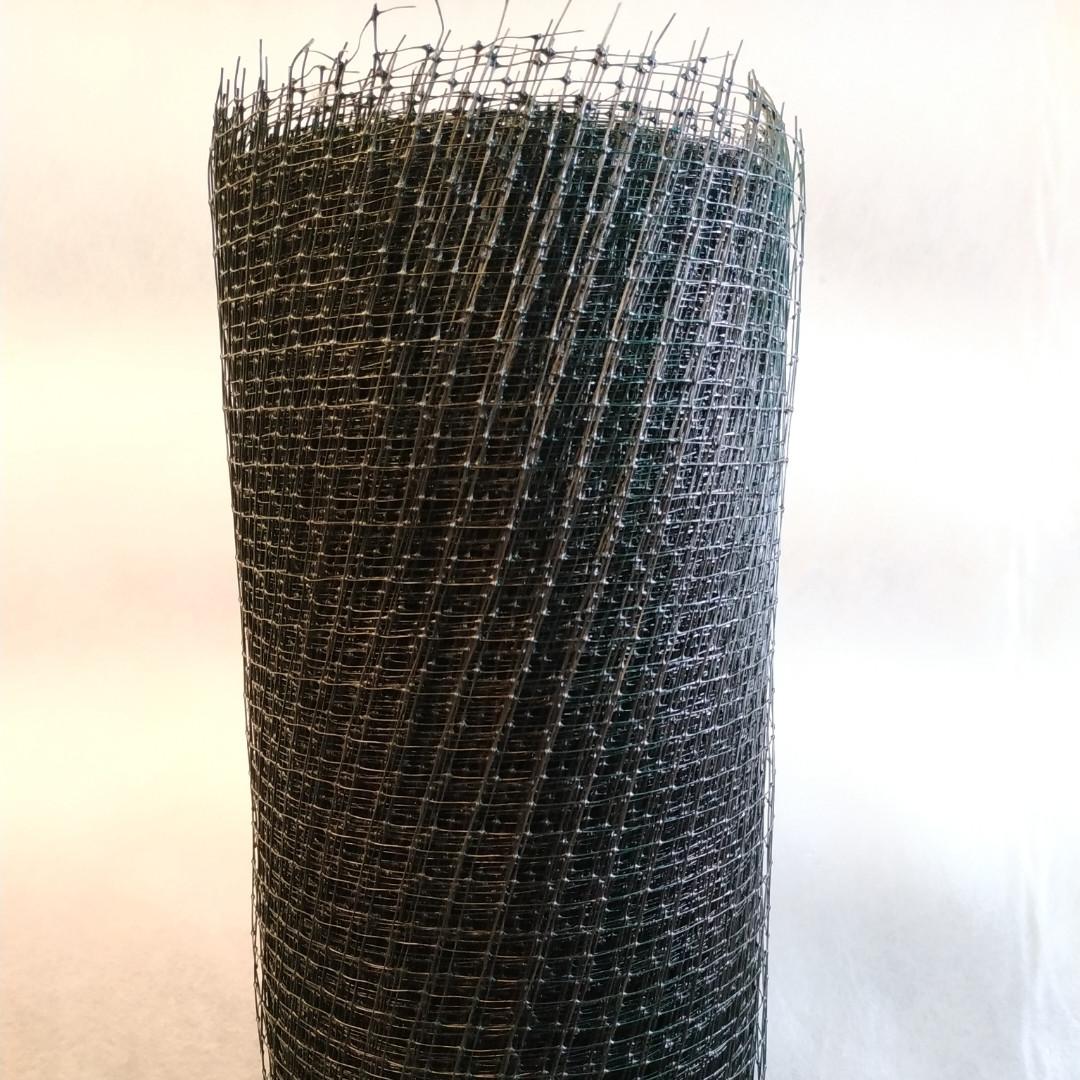 Сетка вольерная для птиц черная, ячейка 22мм x 35мм, рулон 1.5м x 100м