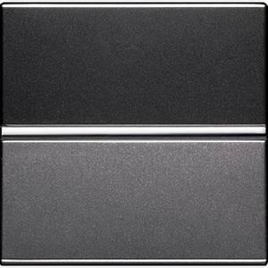 Вимикач 1-клавішний прохідний, антрацит, Zenit ABB N2202 AN