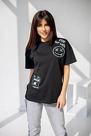 Удлиненная женская футболка