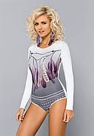 Женская блуза-боди с длинным рукавом. Модель BDV 047 Gaia, коллекция осень-зима 2015-2016.