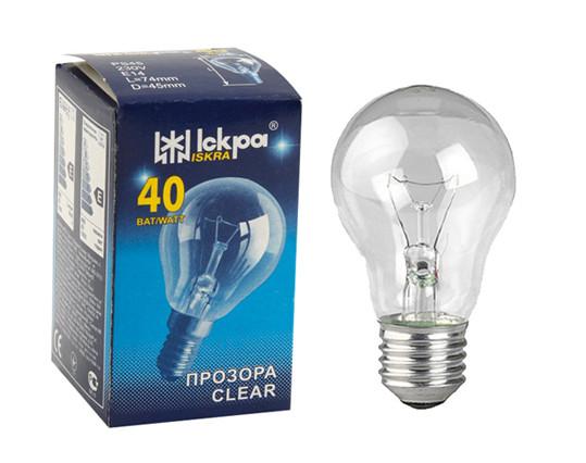 ІСКРА А50 (40 Вт) Лампа розжарювання в індивідуальній упаковці