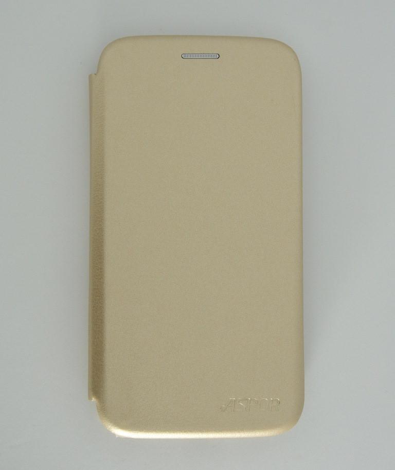 Чехол-книжка для Samsung A30 A305 A20 A205 Aspor золотая