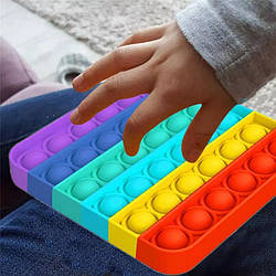 Pop It игрушка антистресс, пупырка, поп ит, сенсорная игрушка, Радужный Квадрат, Круг,  ромб