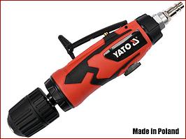 Пневматическая дрель прямая с самозажимным патроном Yato YT-09695