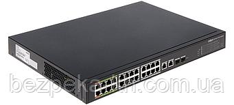 24-портовый PoE управляемый коммутатор c 8 портами ePoE Dahua DH-LR2226-24ET-360