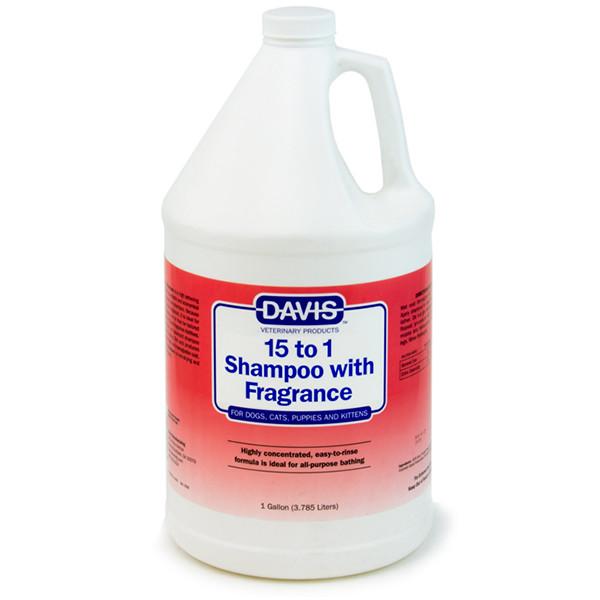 Davis 15 to 1 Shampoo Fresh Fragrance ДЕВІС 15: 1 шампунь з ароматом свіжості для собак, котів, концентрат
